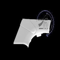 زاویه داخلی ترانک البرز 50x105